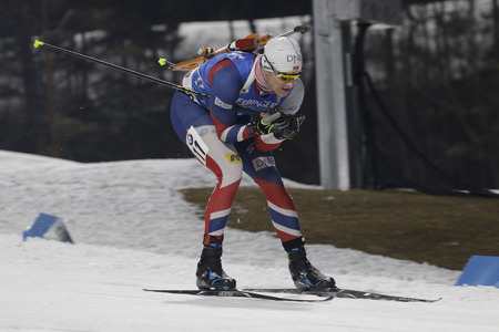 79044854 - christiansen vetle sjastad of norway action during an ibu biathlon world cup men 10km sprint at alpensia biathlon center in pyeong chang, south korea.