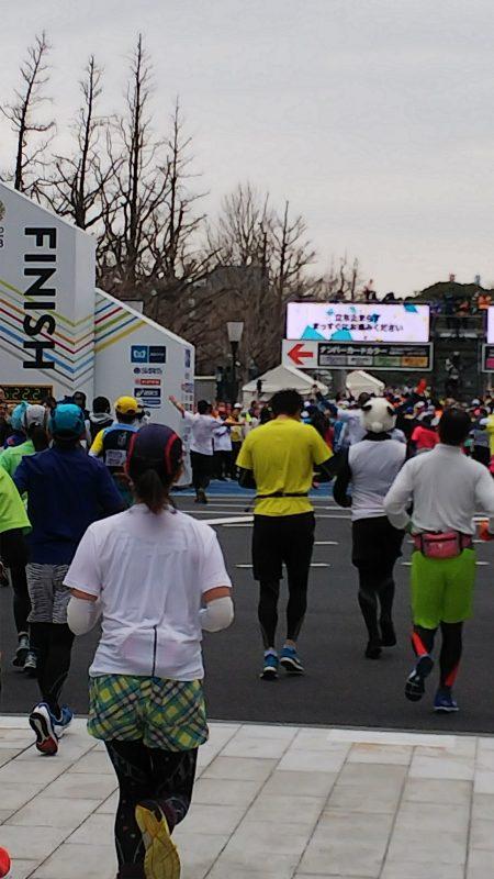 東京マラソン_ゴール1